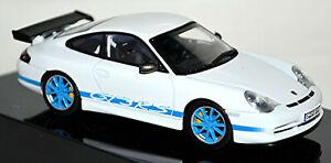 Porsche 911 GT3 Rs 2004 Type 996 White Blue Stripes 1:43 Autoart