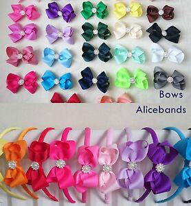 Diamante Pearl Rhinestone Bow Hair Clip Pin Alice band Headband Girls Ladies