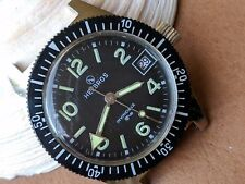 Vintage Helbros Invincible Divers Watch w/Pristine Dial,Golden Patina FOR REPAIR