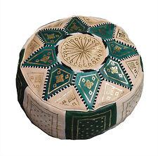 Moroccan leather Pouf Pooff Pouff Ottoman Footstool Hossack Pouffe Hassack New
