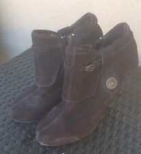 Kenneth Cole Unlisted Suede Ankle Booties, Pumps, Brown Suede--7.5-8