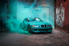G1283 Bmw Z3 M Car Smoke From Under The Wheels City Laminated Poster FR