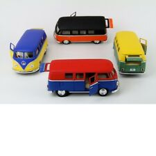 Kinsmart 1:32 Display 1962 Volkswagen Classical Bus 4 Color Styles Set KT5060DM