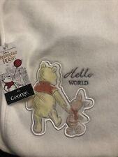 Winnie The Pooh Reversible Baby Blanket. New. Disney