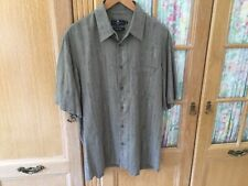 M&S Mens 100% Silk Shirt Size M/ Chest 44 In Very Good Condition