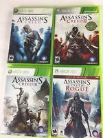 Assassin's Creed 1 2 3 and Rogue Lot Bundle Xbox 360 I II III Rogues