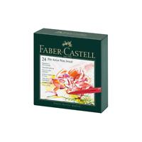FABER-CASTELL - 24 PITT ARTIST PENS - BRUSH - 24 COLOUR SET