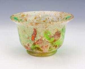 Antique French Mottled Art Nouveau Glass Bowl - Probably Schneider Or Legras
