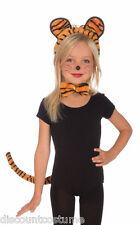 CHILD PLUSH TIGER SET EARS BOW TIE TAIL KIDS HALLOWEEN COSTUME ACCESSORY KIT