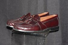 Johnston & Murphy Aragon Kiltie leather/loafers slip-on shoes w/ tassel SZ 8.5M
