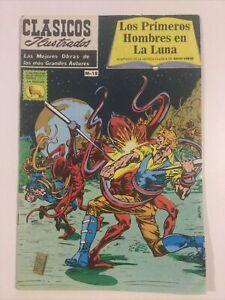 SPANISH COMICS CLASICOS ILUSTRADOS M18 PRIMEROS HOMBRES EN LA LUNA PRENSA MEXICO