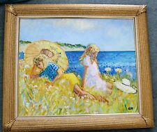 "JOHN ASH. ""GIRLS BY THE SEA"". ORIGINAL PAINTING"