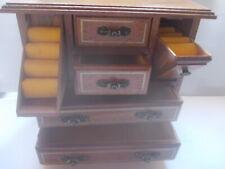Armoire à Bijoux, JUWELRY CABINET, Schmuckkästchen, Bois Wood 23x24x14cm vintage