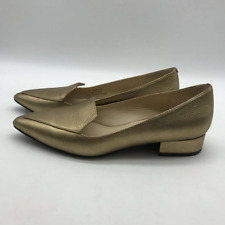 Cole Haan Gold Pointy Toe Flats 5