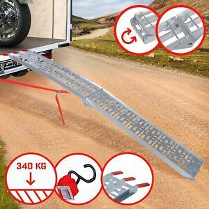 Jago® Auffahrrampe ALU 340 kg Klappbar Auffahrschiene Anhängerrampe Verladeschie