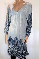 boho Australia Brand Blue White 3/4 Sleeve Dress Size S BNWT #TS68