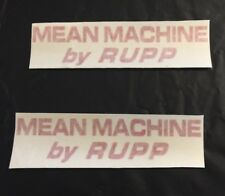 Rupp Mean Machine Go Kart  Decals