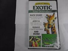 WORLD'S MOST EXOTIC TRAVEL DESTINATIONS VHS NEW CLAMSHELL - NAPA VALLEY AND MORE