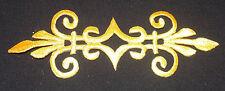 ORO METALLICO toppa ricamo pizzo Applique Motif Venise irlandese Costume Da Ballo