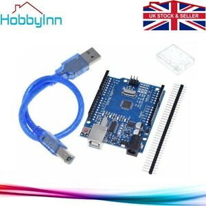 UNO R3 Arduino Compatible IDE ATMEGA328 CH340G with Enclosure & USB Cable