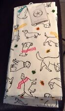 Nwt The Prairie Set Of 2 Kitchen Towels Dachshund Dog Dogs Fall Winter