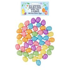 Easter Decorations, Bonnet Arts and Crafts, Egg Hunt - 50 Pk 2cm Glitter Eggs