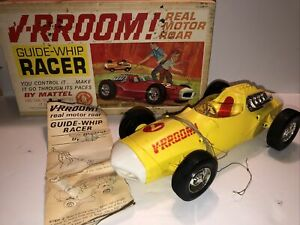 1963 MATTEL V-RROOM GUIDE WHIP RACER TETHER CAR IN BOX # 0589 - PARTS OR REPAIR
