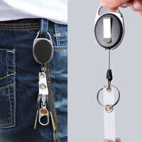 BADGE REEL - RETRACTABLE RECOIL PASS ID CARD HOLDER KEY CHAIN