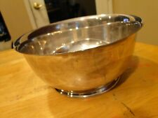 HUGE WALLACE SOLID STERLING SILVER LARGE 9 1/2-INCH PAUL REVERE BOWL
