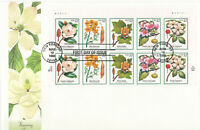 SSS: US Fleetwood Oversize FDC 1998 32c Flowering Trees  PB10  Sc #3193-97