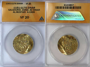 1161-1175 Salghurid Gold Dinar ANACS VF20