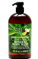 Hemp & Coconut Lime Body Wash with Natural Dead Sea Minerals 1000 ml