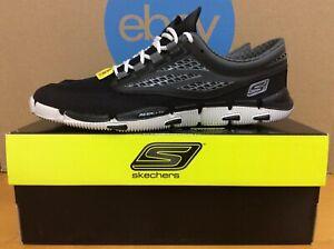 NIB Skechers NEW Vintage Rare Go Bionic Mens Running Shoes 6.5 Black Silver E8