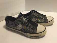 Ed Hardy Sneakers Women's Size 5 Geisha Black Slip On