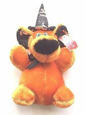Halloween Soft Touch Toy Plush Bear with black pointed hat (new)