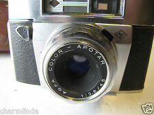 Vintage 1960 Agfa Super Solina Silette 35mm Film Camera w/ Original Case