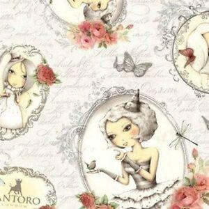 "27"" Remnant Cameo Girls on Script Mirabelle La Vie En Rose by Santoro 24259-K"