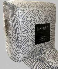 RALPH LAUREN King Size Comforter Set MOROCCAN GRAY creamy white