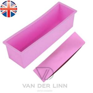 """EXTRA LARGE 10.5"""" SILICONE LOAF MOULD RECTANGLE BREAD TIN NONSTICK PINK"""