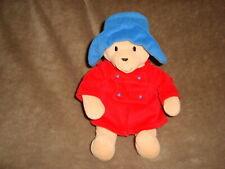"Paddington Bear Plush Eden 9"" Teddy Bear red coat"