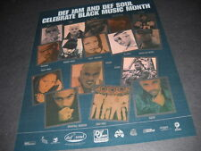 DEF JAM Promo Ad JAY-Z LL Cool J FOXY BROWN Redman CASE Memphis Bleek JAH RULE