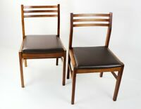 Pair of Retro Danish Style Teak Dining Chairs [5571]
