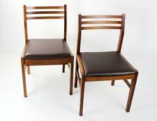 Pair of Retro Danish Style Teak Dining Chairs [5571]