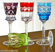 Faberge Na Zdorovye Cordial Liqueur Glasses, Rare! Ed. Ii, Cased Crystal Signed