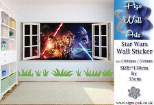 Star Wars Autocollant mural la Force Réveille (2015) Enfants Chambre à Coucher X Grande applique murale.