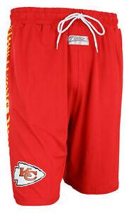 Zubaz NFL Men's Kansas City Chiefs Team Logo Zebra Side Seam Shorts, Red