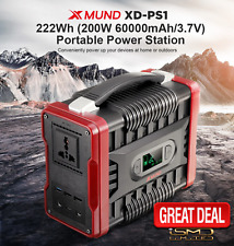200W Portable Power Station Solar Power Generator Energy Supply Backup Battery