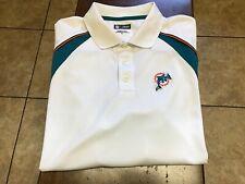 Miami Dolphins s/s polo shirt size XL white