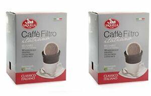 Saquella Caffe Filtro Classic Italiano Reusable OneCup Filter + 2x10 Coffee Bags