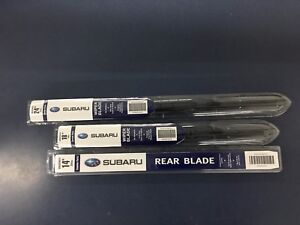 2009-2013 Subaru Forester Front & Rear Windshield Wiper Full Blade Set Genuine